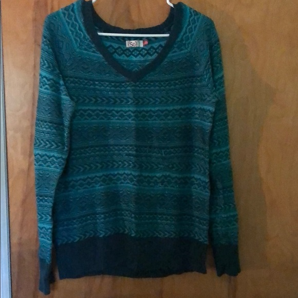 SO Sweaters - Teal and blue sweater